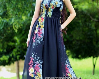 Black Dress Maxi Dress Women Plus Size Prom Evening Gown Formal Rose