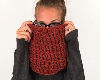 Burnt Orange Cowl Crocheted