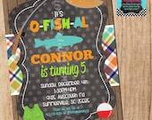 GONE FISHING invitation - YOU Print