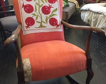 Upholstered Rocking Chair Patched