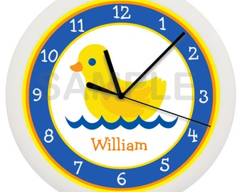 Rubber Duck Bathroom Wall Clock