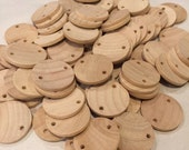 100 - Unpainted Natural Wood Circles for Birthday Boards