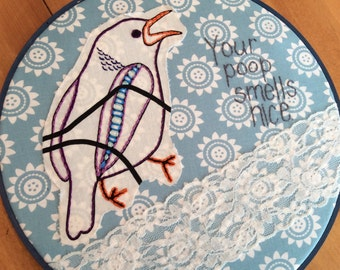 Blue Bathroom Bird