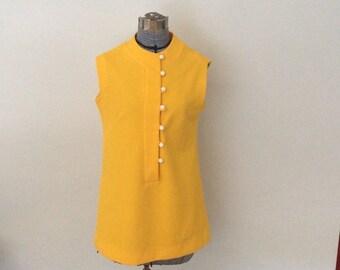 Bright Yellow Orange tunic