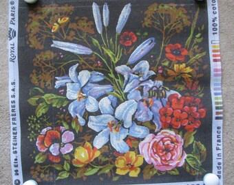 Royal Paris Flower Garden Needlepoint/Tapestry Canvas