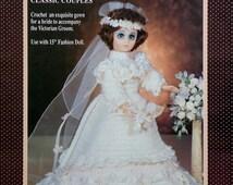 "20%OFF Fibre Fiber Craft VICTORIAN BRIDE 15"" Fashion Doll - Crochet Doll Dress Clothes Clothing Pattern"