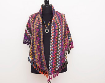 Blanket scarf ,oversized  scarf ,triangel scarf