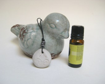 Aromatherapy Clay Pendant Essential Oil Necklace Diffuser