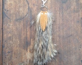 Real Coyote Fur Keychain-Fur Tassel