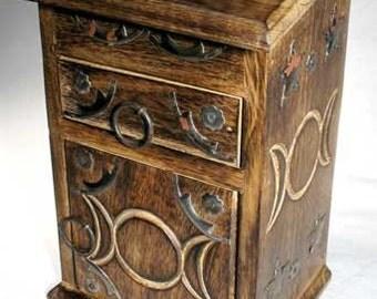 Triple Moon Herb Cupboard (wood)