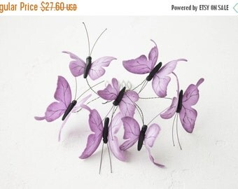 Christmas SALE Purple Butterflies Comb Wholesale Hair Accessory Decoration Butterflies Crown Bridal Wedding Hair Wedding Comb Halloween Deco