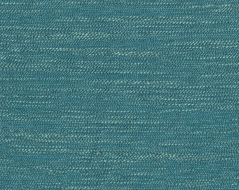 """32"""" x 57"""" - One Piece - Popular Faux Linen Upholstery Fabric - Coordinates Traditional to Modern - Soft hand feel - Color: Emerse Turquoise"""