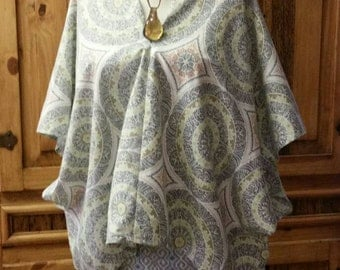 Poncho Hippie Loose Fitting Top Bohemian