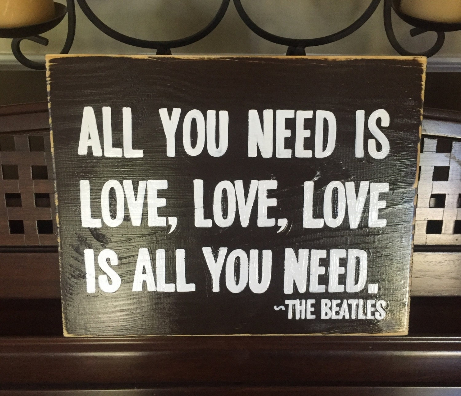 All You Need Is Love Sign Plaque The Beatles Song Quote Lyrics