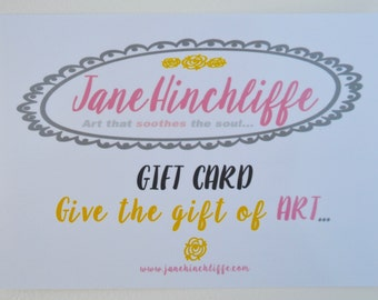 Gift Card - Give the gift of art... - originals, fine art prints, creative mentoring sessions, online classes, ecourses, commissioned art
