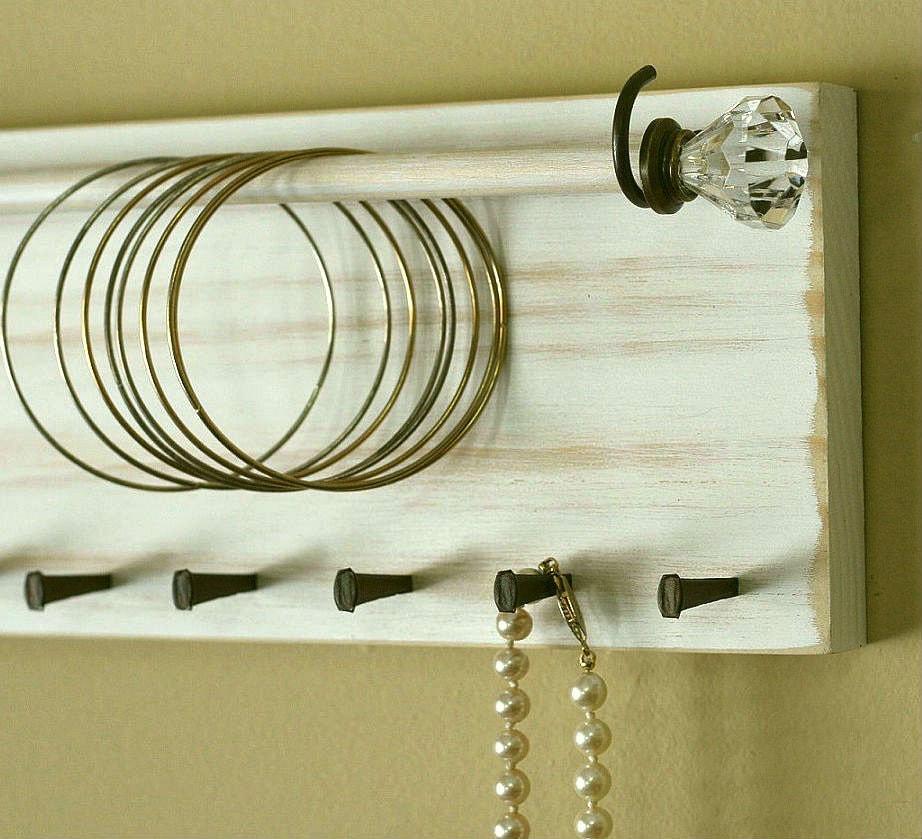 Diy Modern Hanging Jewelry Organizer: Jewelry Holder Organizer Bracelet Holder Rack Headband Wall
