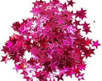 Rose Glitter Medium Stars - 1 Fl. Ounce