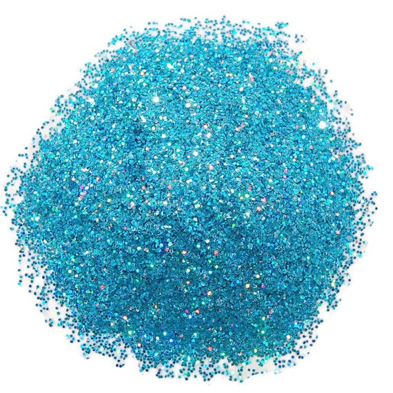 Rainbow Turquoise SOLVENT RESISTANT HOLOGRAPHIC Glitter 0.015 Hex - 1 Fl. Ounce for Glitter Nail Art GlitterNail Polish and Glitter Crafts