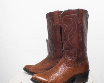 40% off Sale 8.5 D | Men's Stovepipe TEXAS Boot Co. Brown Western Boots