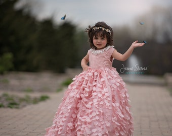 All a Flutter Dress - Couture Ball gown