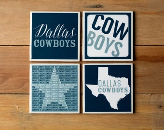 4 Dallas Cowboys Coasters