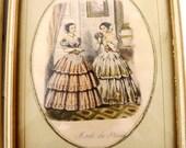 Set of Antique Mode De Paris Picture Prints, Illustree Fashion Plates, Fashion Prints, Wall Decor, Bedroom Decor, Home Decor, Framed Prints