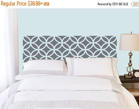 ON SALE - Overlapping Circles Headboard decal  - Vinyl wall sticker decal - circles pattern