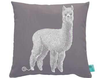 Alpaca Throw Pillow Case, Nursery Pillow, 16 inch Decorative Pillow