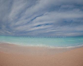Beach 1 Digital Background - Instant Download, Stock Photo, Florida Beach, Blue Water