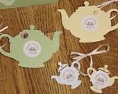 CUSTOM ORDER  Tea Party Favor Tags and Place Cards