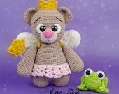 "Bella the Little Teddy Bear ""Little Explorer Series"" Amigurumi - PDF Crochet Pattern - Instant Download - Amigurumi Cuddy Stuff"