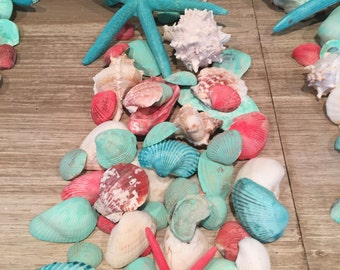 Beach Wedding Table Decor, Destination Wedding, Coastal Table Decor, Starfish Shell Table Decor, Beach Wedding Table Scatter, 75-100 Shells