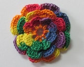 RUFFLED Spool Pin Doily (Variegated - Fiesta Red/Orange/Yellow/Green/Blue/Purple)