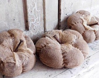 Primitive Natural Pumpkin Bowl Fillers, Primitive Gourds, Fall Harvest Decor