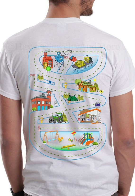 Daddy S Race Track T Shirt Play Time With Dad Shirt Car