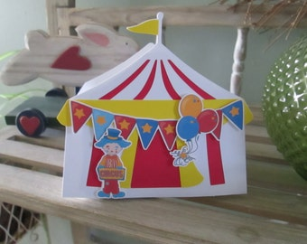 Circus Tent Large Open Favor Box Set of 10