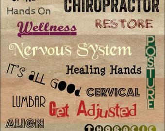 "Chiropractic Words Poster 18"" X 24"""