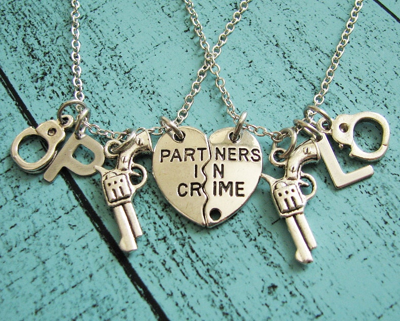 partners in crime necklace best friend gift mothers day