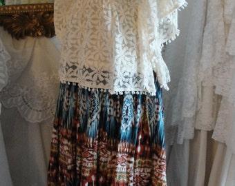 Gypsy hippie bohemian boho skirt