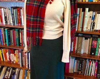 SPRUCED UP--Sharp 1940s 1950s Evergreen Wool Gabardine High Waist Pencil Skirt