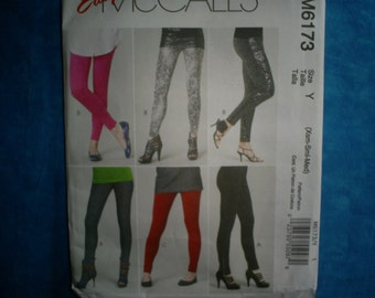 McCalls 6173 Misses Pants and Leggings Size XS-SM-MED.