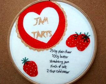 Jam Tarts Embroidery- Retro