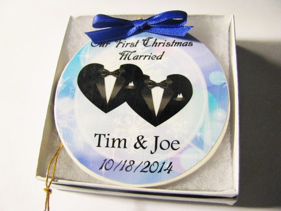 Bride And Groom First Christmas Ornament