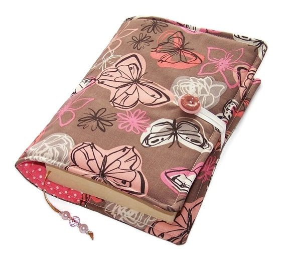 Fabric Book Covers : Handmade bible cover fabric book butterflies and