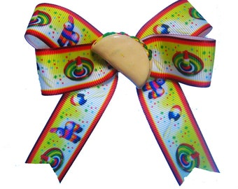 May 5 Cinco de Mayo Maracas Hair Bow