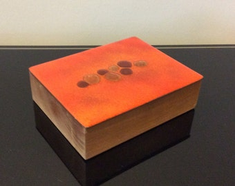 Bovano Enamel Copper Lidded Wood Box