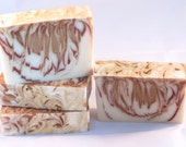 Vanilla Almond Cinnamon Luxury Cold Process Rustic Soap
