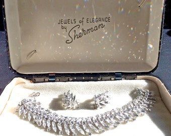 Sherman Bracelet & Earring Set in Box