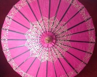 pink lotus parasol