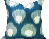 Bukhara pillow cover in Blue/Blue - ON BOTH SIDES
